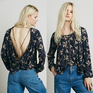 Free People Elsa Printed Twist Back Top  Size: XS